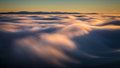 Inversion in the valley at sunset Royalty Free Stock Photography