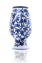 Inverted porcelain vase chinese on white background Royalty Free Stock Photos