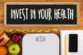 Invest in your health , Healthy lifestyle concept with diet and Royalty Free Stock Photo