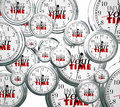 Invest Your Time Many Clocks Competing Priorities Jobs Tasks Royalty Free Stock Photo