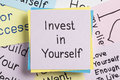 Invest in Yourself written on a note Royalty Free Stock Photo