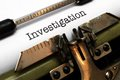Investigation close up of concept Royalty Free Stock Images
