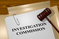 Investigation commission concept d illustration of title on legal documents legal Royalty Free Stock Photography