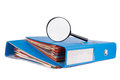 Investigation files high quality studio shot Royalty Free Stock Photography