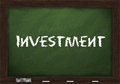 Investment on chalkboard Royalty Free Stock Photos