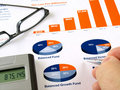 Investment chart Royalty Free Stock Photo