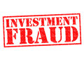 INVESTMENT FRAUD Royalty Free Stock Photo