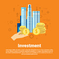Investment Money Investor Business Web Banner Royalty Free Stock Photo