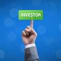 Investor business man button Royalty Free Stock Photo