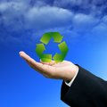 Investor show the recycle technology Stock Images