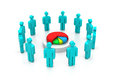 Investors dividing the profit business success concept Royalty Free Stock Photos