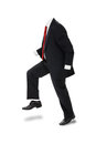 Invisible businessman man in formal suit with no body over white clipping path included concept vertical Royalty Free Stock Photography