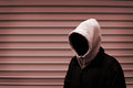 Invisible man in the hood duotone picture Stock Image