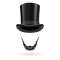 Invisible man in top hat with lincoln beard wearing Stock Photo