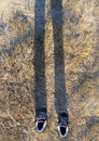 Invisible Man Wearing Shoes Royalty Free Stock Image