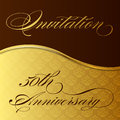 Invitation 50th anniversary Royalty Free Stock Photography