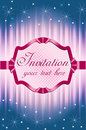 Invitation with attractive frame Stock Images