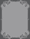 Invitation background ornamental frame elegant light gray corner on dark gray perfect as stylish wedding invitations and other Royalty Free Stock Photography