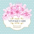 Vintage card Cherry blossom