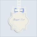 Invitation card with cute bow Stock Photos