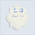 Invitation card with cute tender bow Stock Photography