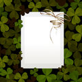 Invitation card design st patrick s day clover leaves paper Royalty Free Stock Photo