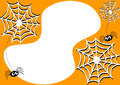 Invitation card with halloween spiders and cobwebs party spiderwebs Stock Photos