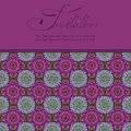Invitation or card with moroccan pattern mosaic Stock Images