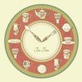 Invitation card Tea Time Royalty Free Stock Photography