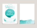 invitation card templates with watercolor elements .Vect