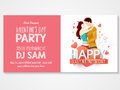 Invitation card for Valentine's Day celebration. Royalty Free Stock Photo