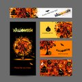 Invitation cards for halloween party for your design this is file of eps format Royalty Free Stock Images