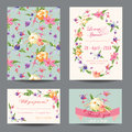 Invitation-Congratulation Card Set Royalty Free Stock Photo