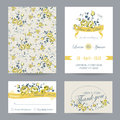 Invitation or Congratulation Card Set Royalty Free Stock Photo