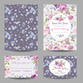 Invitation or Congratulation Card Set