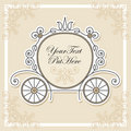 Invitation design with carriage Royalty Free Stock Image