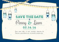 Invitation - Hanging mason jars