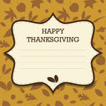 Invitation heureuse de thanksgiving Photos stock