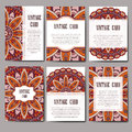Invitation mandala design template. Graphic card with hand drawn ornament. Colorful eastern floral decor for greetings, wedding in Royalty Free Stock Photo