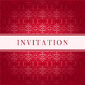 Invitation red card Royalty Free Stock Images