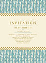 Invitation With A Rich Backgro...