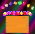 Invitation to a party for celebration or night with balloons and sign information Stock Photography
