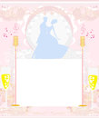 Invitation to the prom dance illustration Stock Photography