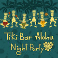 Invitation to tiki bar night party funny Royalty Free Stock Photos
