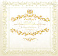 Invitation wedding card in vintage luxury style Stock Image