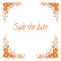 Invitation for wedding with flowers.