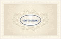 Invitation or wedding frame with floral background congratulation in light color Royalty Free Stock Photography