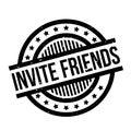 Pozvať priatelia guma pečiatka
