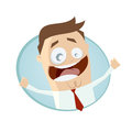 Inviting businessman illustration of an Royalty Free Stock Images