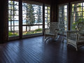 Inviting porch with a view comfortable overlooking beautiful lake tahoe Stock Photos